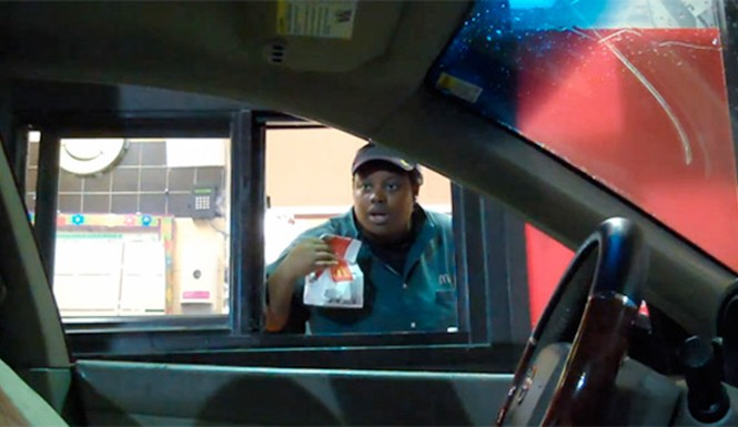 invisible drive thru prank video